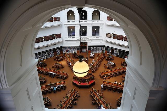 LaTrobe reading room at Victoria State Library, Melbourne Australia