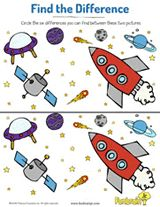 Outer Space Find the Difference | Visual Discrimination Activity for Kids https://www.teachervision.com/early-learning/printable/74007.html