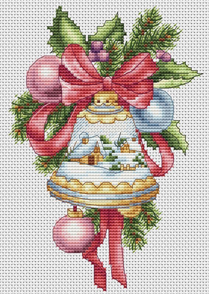 вышивка крестом рождественский свет схема