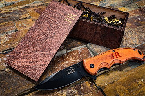 Engraved Groomsmen Box Gift Personalized Knife Amp Wooden