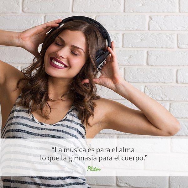 ¿Cómo llevas la semana? ¡Pon algo de música y alégrate el día! 🎧🎶🎵😃 #frases #frasedeldia #platon #musica #alegria #felicidad #fueraestres #risas #serfeliz #salud #vidasaludable #healthylife #estilodevidasaludable #music #quotes #quoteoftheday #instahealth #instahappy #happyness #feelfree #feelgood #feelingood #feelgoodmusic #sintiendolamusica #musicaparavolar #felizdia #vidafeliz