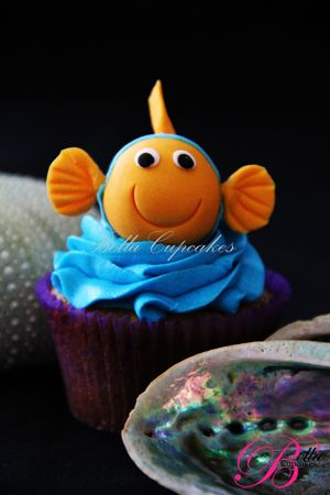 Happy fish: Baby Shower Cupcakes, Cupcakes Ideas, Cupcakes Cupcakes, Birthday Cupcakes, Cupcakes 2, Nemo Cupcakes, Cupcakes Cak, Fish Cupcakes, Cups Cakes