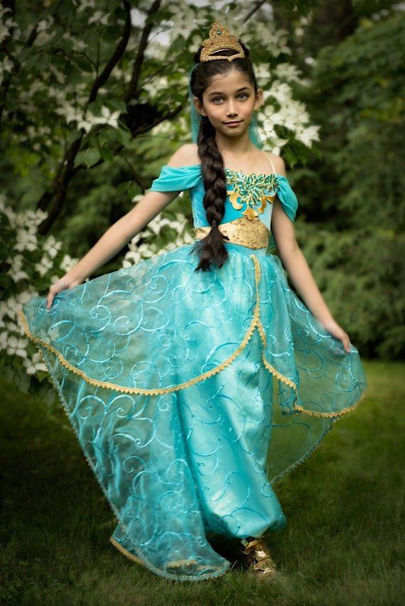 Jasmine Crown Veil Etsy Princess Jasmine Costume Jasmine Costume Jasmine Costume Kids