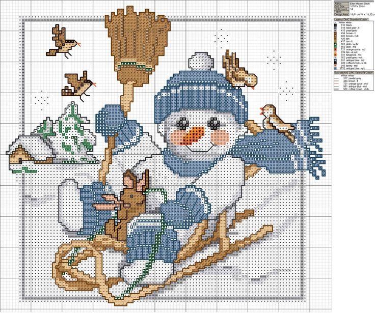 christmas cross stitch pattern,