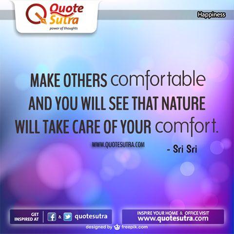 Presenting a beautiful #happiness #quote by Sri Sri Ravi Shankar.