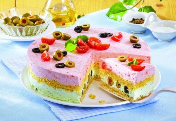 Gâteau au fromage et olives. L'apéritif parfait pour les occasions spéciales Cliquez! Bonne chance!