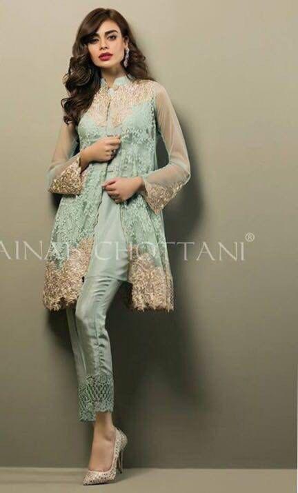 Zainab Chottani mint muse chiffon dress by IrmaDesign on Etsy