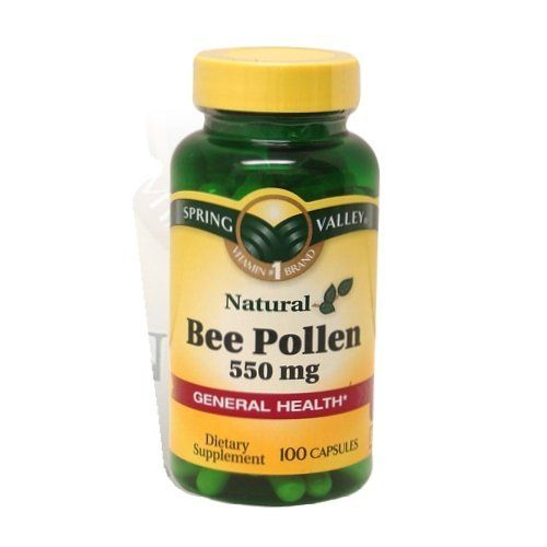 Spring Valley - Bee Pollen 550 mg, 100 Capsules by Spring Valley. $4.00. Bee pollen has a wide range of health claims including enhancement of the immune system, allergy relief, increasing strength and sexual function, enhancing vitality and stamina, slowing the aging process and prolonging life. Bee pollen consists of many nutrients, including carbohydrates, proteins, amino acids, fatty acids, enzymes, vitamins and minerals. spring valley vitamins