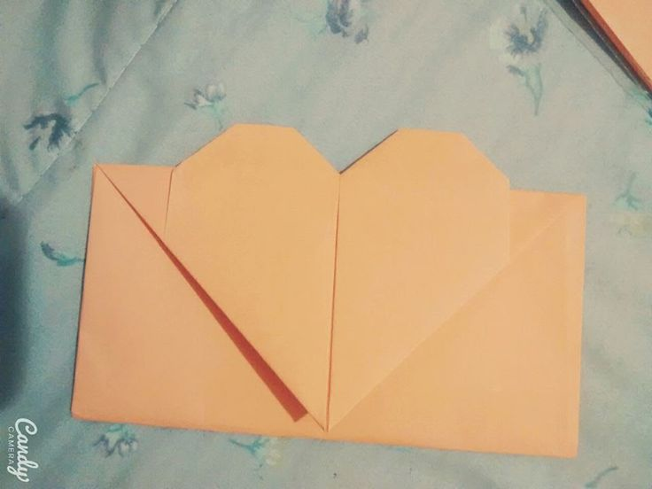 Tutorial Envelope de coração Origami - Dobradura folha A4