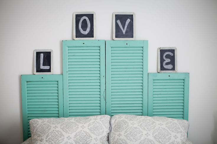 DIY Shutter Headboard http://blog.3dayblinds.com/diy-windows-3-day-blinds/