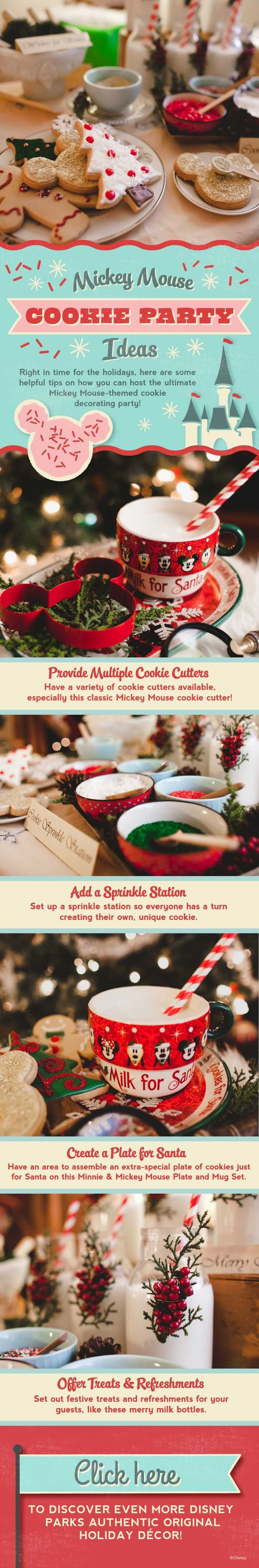 Disney Christmas Party Ideas Part - 45: Mickey Mouse Cookie Party Ideas From Walt Disney World!