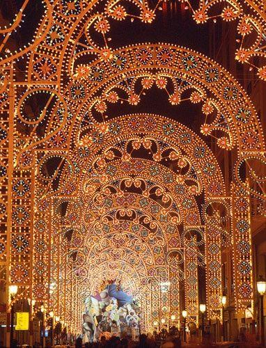 Las Fallas, Valencia, España.  A traditional celebration held in commemoration of Saint Joseph in the city of Valencia each year.