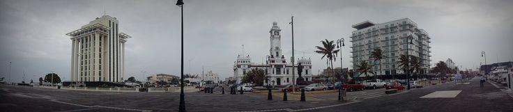 Maliconeando  Foto panorámica de la plaza del malecón Veracruz, Ver.