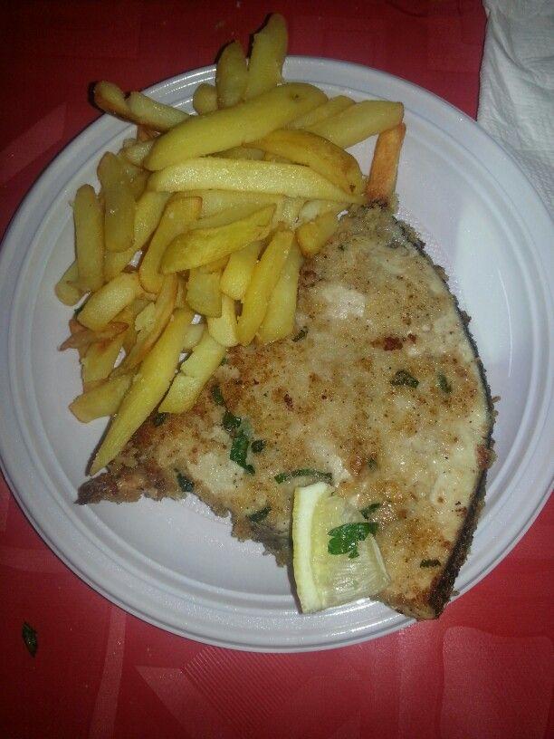 Pesce Spada con patate a forno decorazioni by Angel friend's