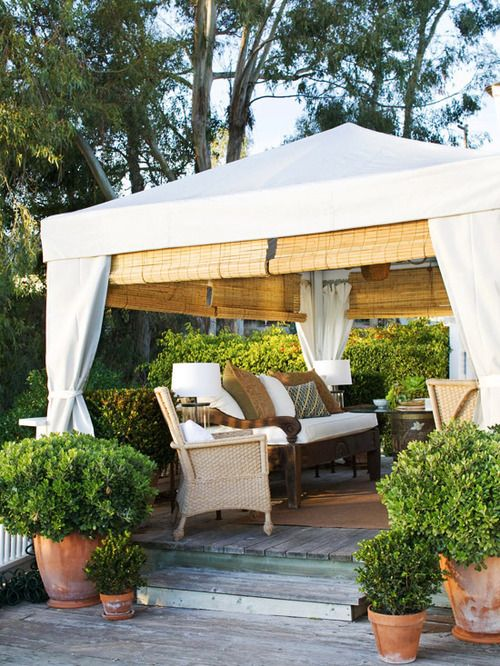 81 best images about backyard tent on pinterest gardens for Outdoor cabana decorating ideas