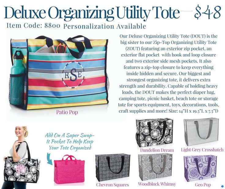 Thirty-One Deluxe Organizing utility Tote Spring/Summer 2018
