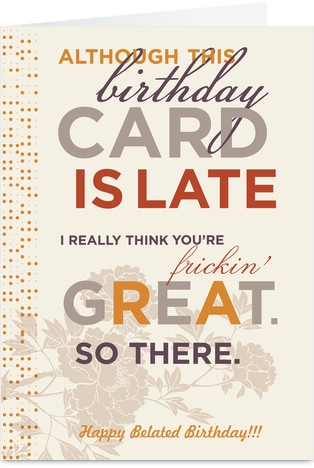 89 best Belated birthday images on Pinterest