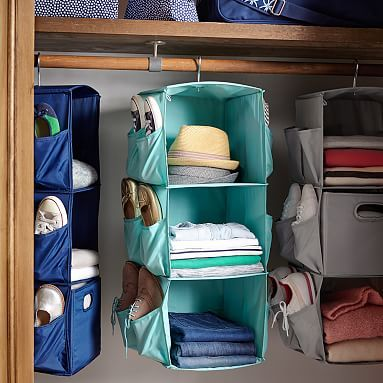 Rotating Hanging Closet Storage #pbteen