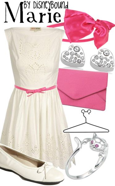 """I love the one~two combo of pink and white, and this Marie inspired Disneybound outfit from """"The Arisocats"""" is perfect!! ♥"""