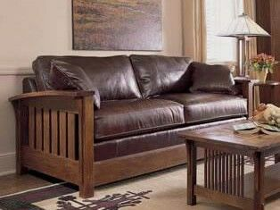 Stickley sleeper-sofa | Arts & Crafts - Craftsman - Mission - Leather - Settle