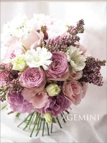 Wedding bouquet  ライラックのクラッチブーケ - AGEMINI