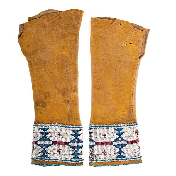 Cheyenne/Arapaho Child's Beaded Hide Leggings
