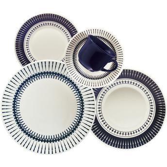 Aparelho de Jantar e Chá Biona Cerâmica 30 Peças Colb - R$ 299. Entrega demora
