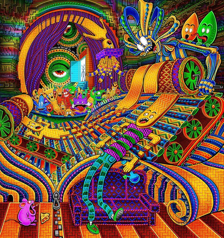 Image result for dmt art tunnel