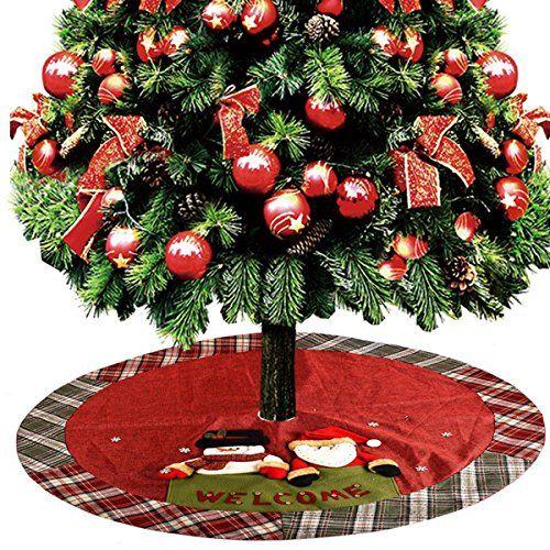 KOSBON Christmas Tree Skirt Mat for Christmas Holiday Tree Party