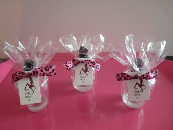 Bachelorette gifts added a few things to my gift boxes for Glass bottle gift ideas