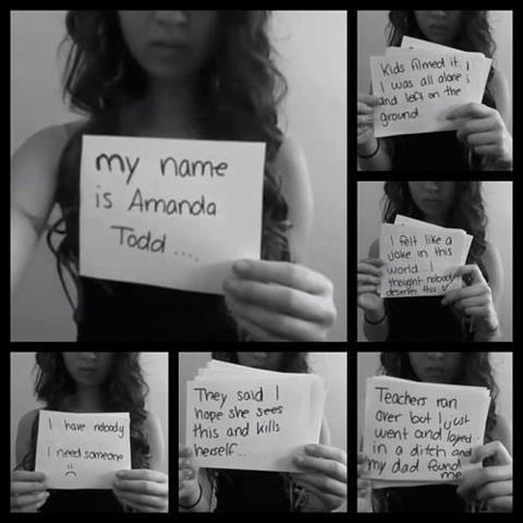 Amanda Todd RIP....STOP BULLYING!!!!! So sad