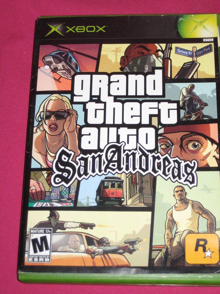 Grand Theft Auto: San Andreas Xbox video game ~ORIGINAL AO' VERSION! ~Xbox360 | eBay
