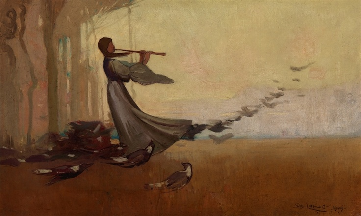 The west wind by Sydney Long