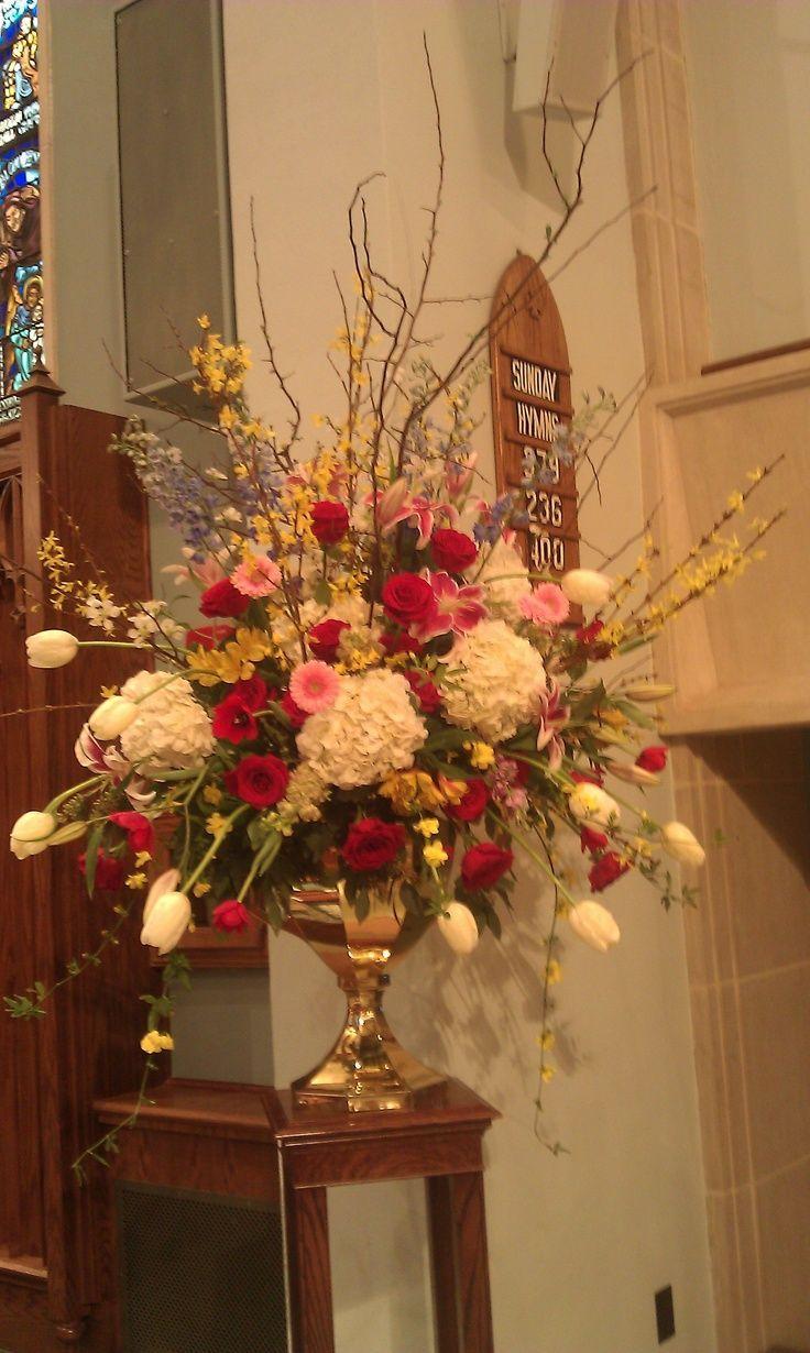 Ideas about church flower arrangements on pinterest