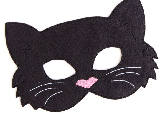 Enfants chat masque Costume de chat noir feutre par BabyWhatKnots