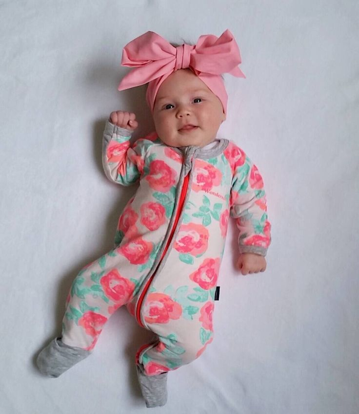 Newborn Baby Rose One Piece Outfit Winter Fall Long Sleeve Romper