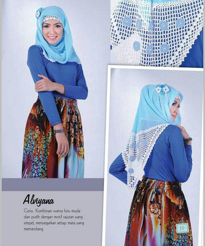 Hijab Rajut ALVIYANA (Kerudung segi empat)