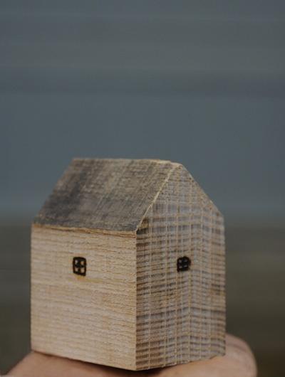 wooden block house