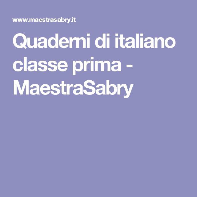 Quaderni di italiano classe prima - MaestraSabry