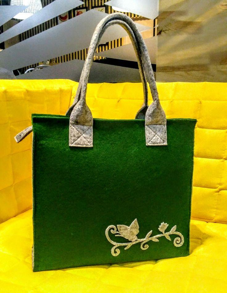 """Фетровый сумка """"Весенняя зелень"""""""