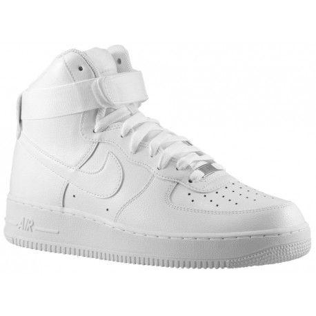 new style 43073 54470 white nike air force 1 high tops,Nike Air Force 1 High -Men s-Basketball-Shoes-White White-sku 15121115
