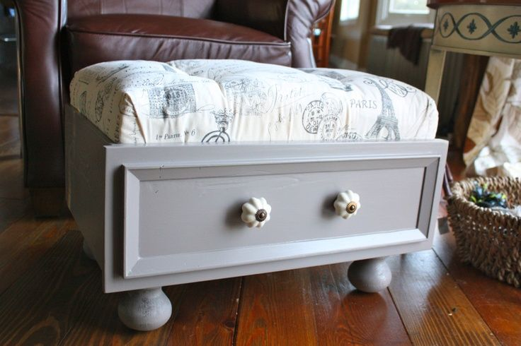 how to make a storage footstool