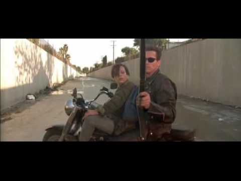 Bad To The Bone, by George Thorogood and the Destroyers (1982), set to scenes from Terminator 2 (1991).  Bad to the Bone - YouTube  #music #film #Arnold_ Schwarzenegger