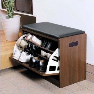 SHOES BOX  腰掛けタイプシューズラック☆玄関先の整理にも一石二鳥の座れる靴箱9足収納
