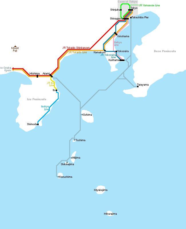 Info on Oshima island, ferry from Kurihama for Camilla festival