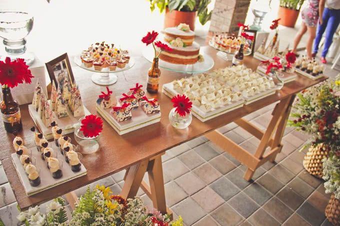 Mesa de doces para noivado