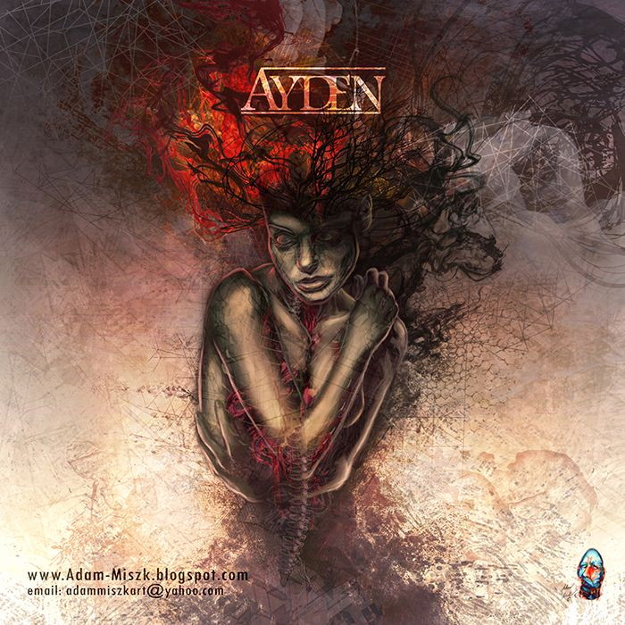 Artwork and logo design for a Poland post-rock band AYDEN. #post #rock #art #cover #music #band