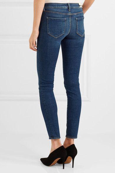 L'Agence - Chantal Low-rise Skinny Jeans - Dark denim - 23