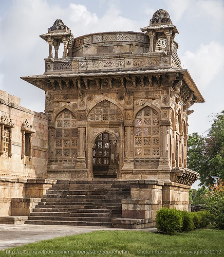 Jami Masjid, the main mosque in Champaner in the state of Gujarat, India, a UNESCO world heritage site.