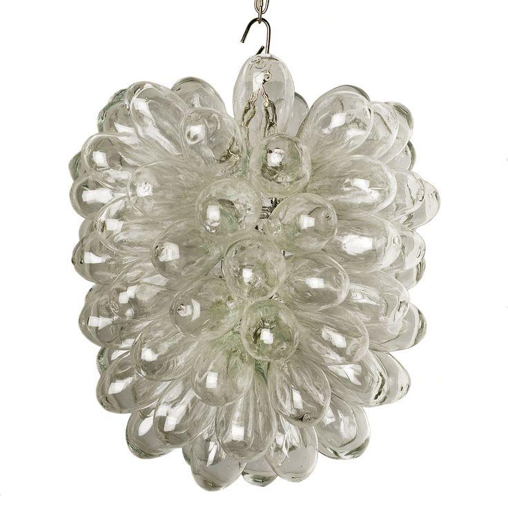 Shop online www.artiquea.co.uk #clear #blown #glass #grape #light #Syrian #design #art #handcrafted